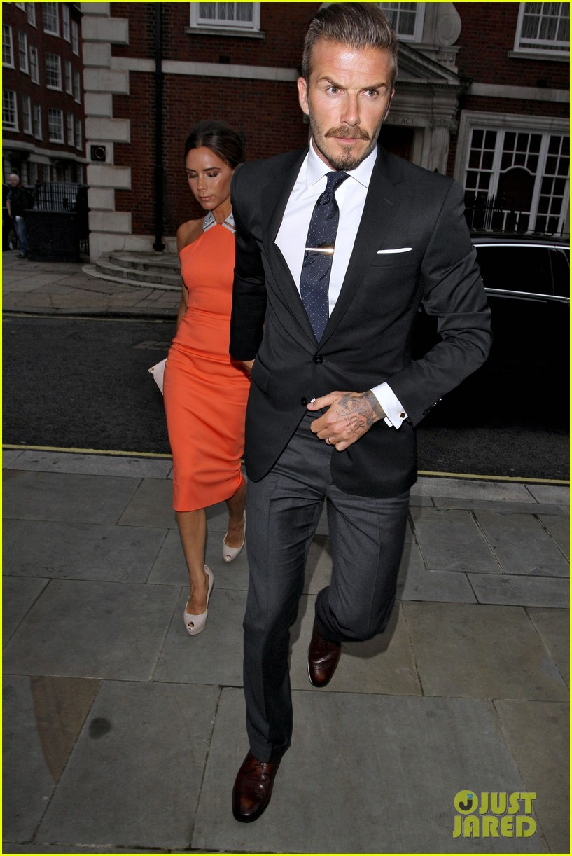 David Beckham 39 S Mismatched Suit More Than Stats Sports Fashion Magazine Where Fashion
