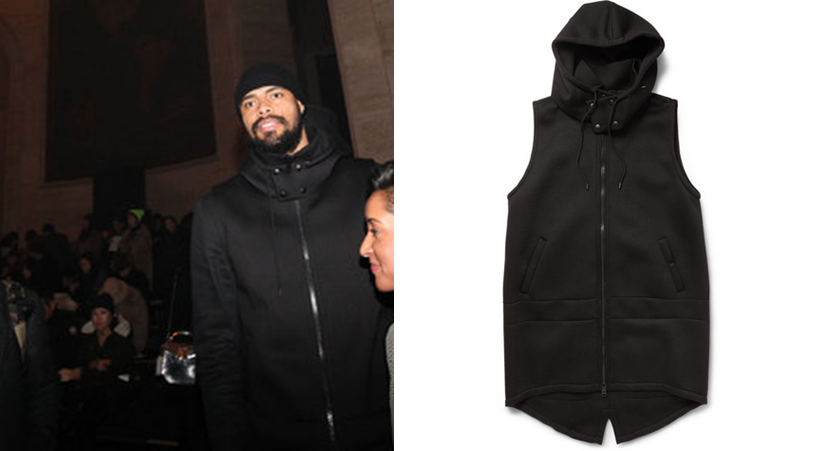 Tyson-Chandler-FW-2013-fashion-week-Givenchy-Hooded-Jersey-Gilet.