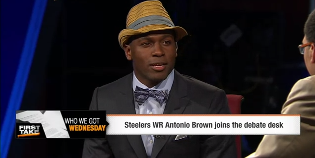 antonio-brown-espn-first-take-fedora-hat-suit