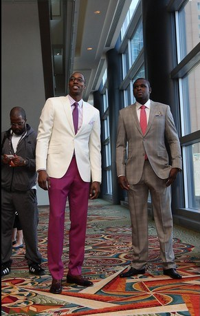 HOUSTON, TX - FEBRUARY 17:  Dwight Howard #12 and Zach Randolph #50 of the Western Conference All-Stars wait to board the bus to the arena prior to the 2013 NBA All-Star Game presented by Kia Motors on February 17, 2013 at the Hilton Americas Hotel in Houston, Texas. NOTE TO USER:  User expressly acknowledges and agrees that, by downloading and or using this Photograph, user is consenting to the terms and conditions of the Getty Images License Agreement.  Mandatory Copyright Notice:  Copyright 2013 NBAE (Photo by Gary Dineen/NBAE via Getty Images)