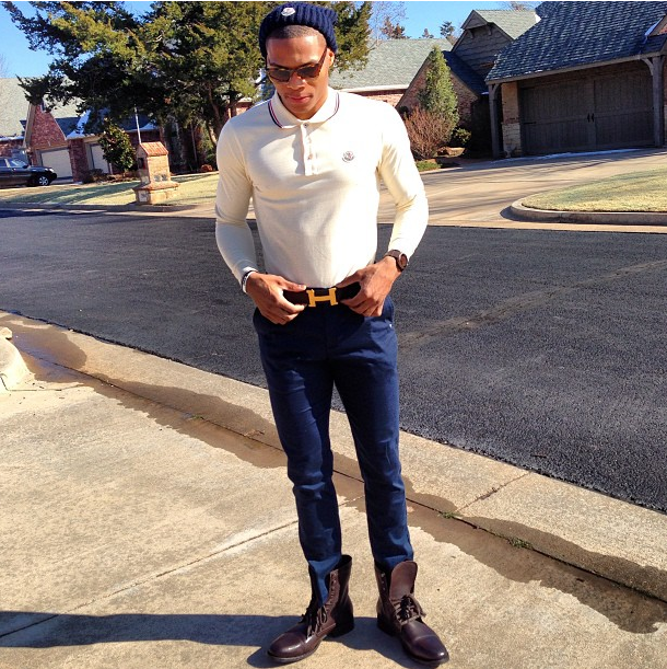 russell-westbrook-instagram-hermes-constance-belt-moncler-beanie-moncler-polo-shirt