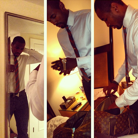serge-ibaka-instagram-hermes-constance-belt-louis-vuitton-weekender