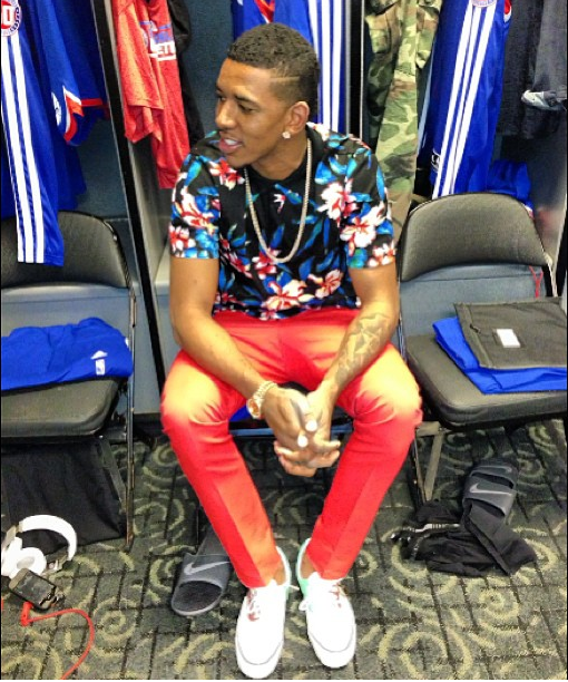 Athletes Fashion: Philadelphia 76ers Nick Young's Instagram Spring 2013 Balenciaga Floral Print Shirt