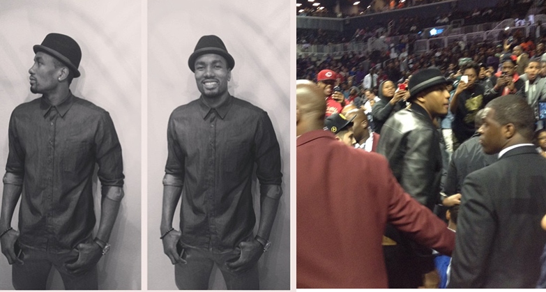 Serge-ibaka-instagram-carmelo-anthony-barclays-center-fedora-hat