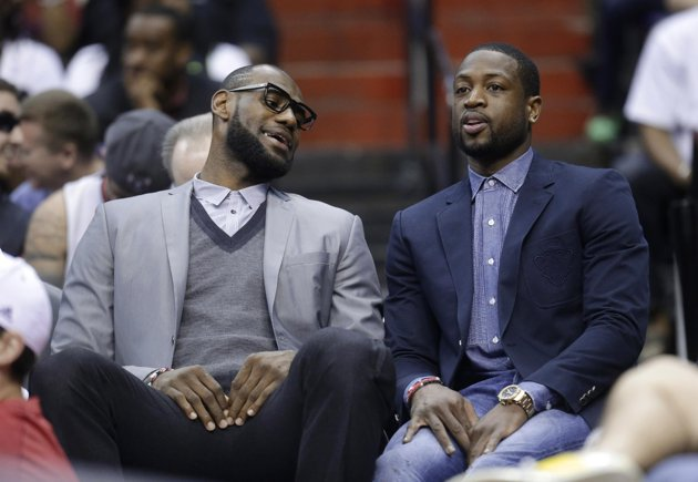 dwyane-wade-lebron-james-benched-wizards-game-april-12