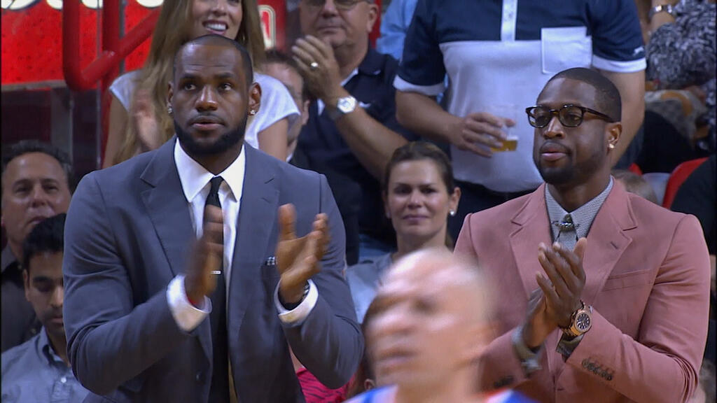 dwyane-wade-lebron-james-sit-out-miami-heat-game-in-style