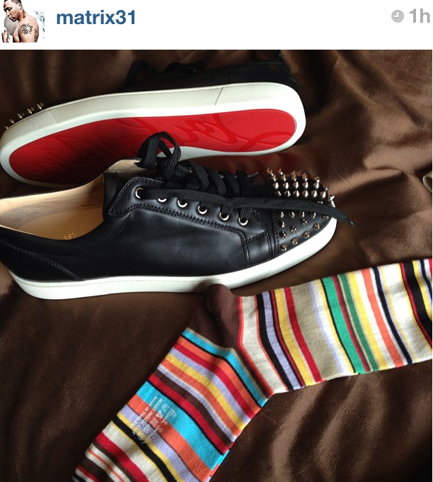 shawn-marion-paul-smith-stripe-socks-christian-louboutin-sneakers