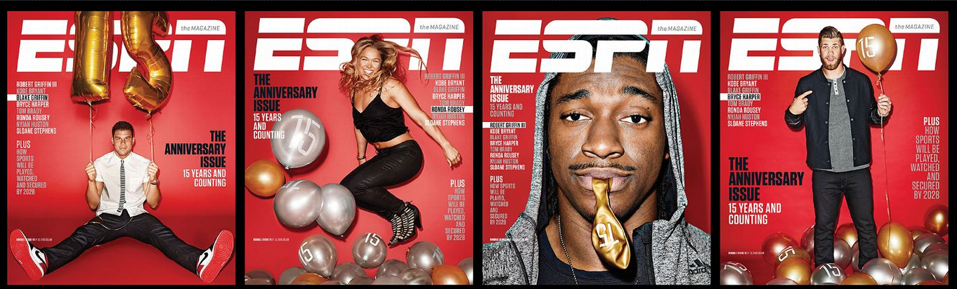Blake-griffin-bryce-harper-ronda-rousey-Robert-griffin-iii-for -espn-the-magazine-anniversary-issue
