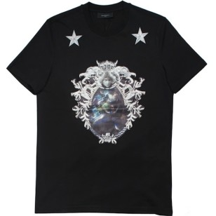 Givenchy-shark-bone-crest-satin-applique-and-stars-tee-shirt