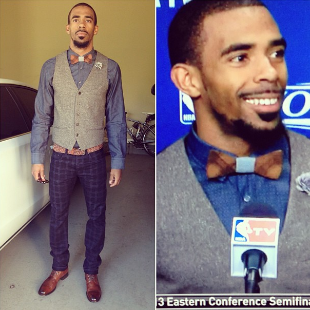 Mike-Conley-2013-nba-playoffs-wooden-bowtie-game-4-round-2