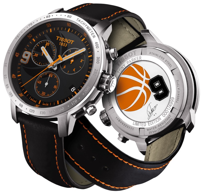 Fresh pick tony parker tissot le 2013 watch more than stats sports fashion magazine where for Celebrity tissot watches