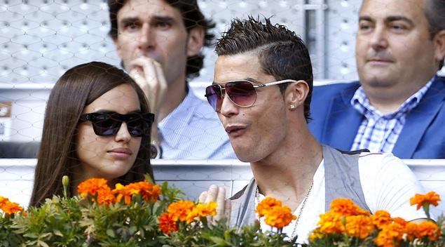 Cristiano Ronaldo and supermodel Irina Shayk attend the Madrid Open  **USA ONLY**
