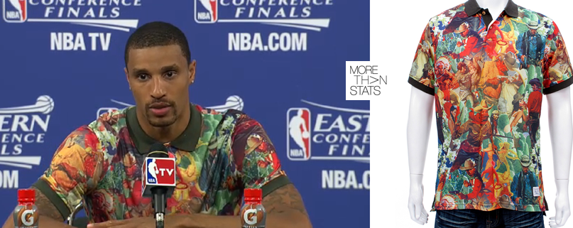 george-Hill-2013-nba-style-playoffs-fashion-Akoo-print-polo-shirt-game-2-ecf-2