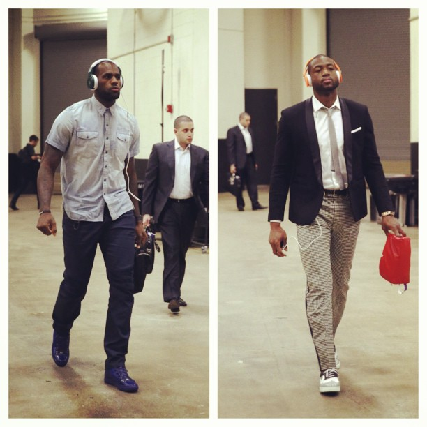 lebron-james-dwyane-wade-2013-nba-finals-game-3-fashion-style-balenciaga- sneakers-del-toro-shoes-neil-barret-jacket