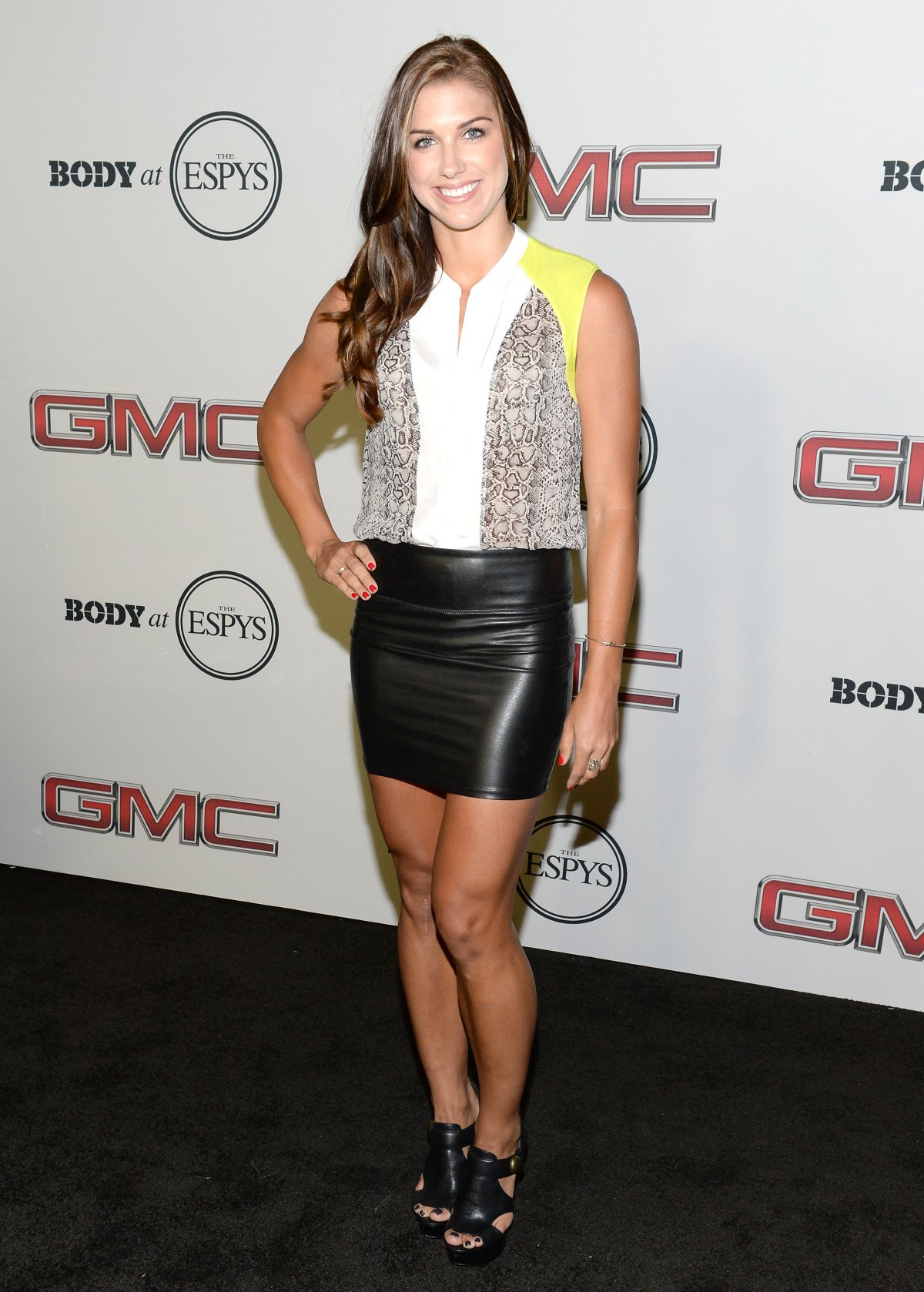 Alex-morgan-leather-skirt-ESPN-2013-Body-Issue-Party
