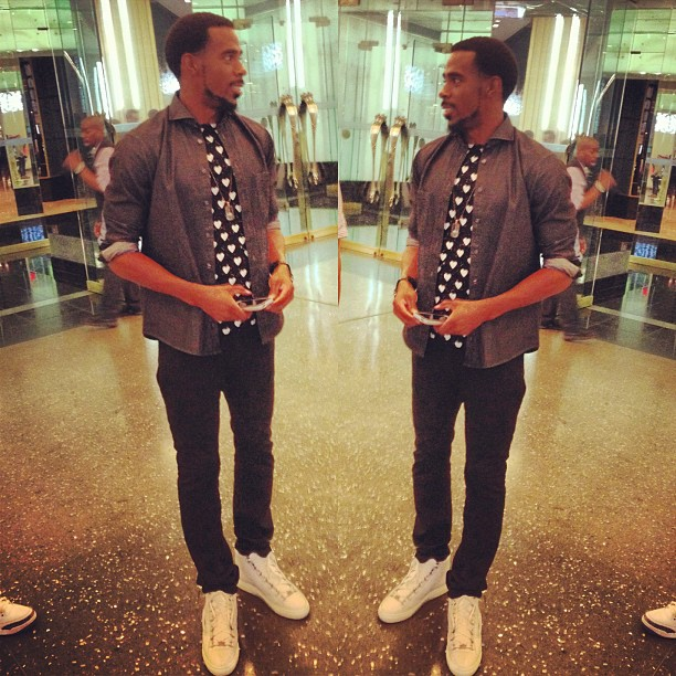 Mike-conley-jr-Burberry-Prorsum-Heart-Print-t-shirt-grungygentleman-eton-shirt-balenciaga-arena-sneakers-jason-of-bh-watch