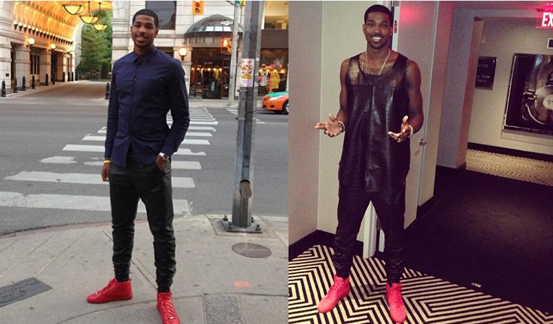 f7ffbb26e83 NBA FASHION  Tristan Thompson s Balenciaga Sneakers   Leather Pants