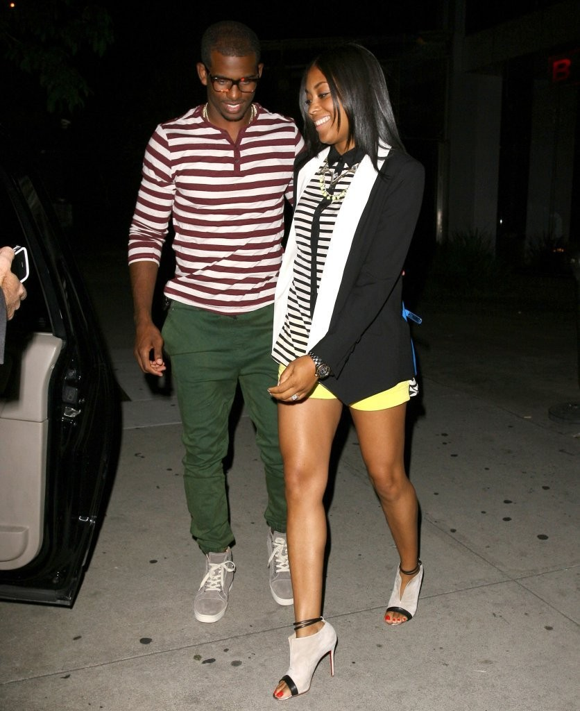 chris-paul-Louboutin-sneakers-Jada-paul-boa-steakhouse-west-hollywood-dkny-breton-stripe-blouse-christian-louboutin-diptic-stone-suede-booties