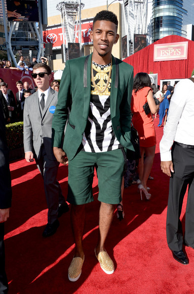 nick-young-2013-ESPY-ESPYS-fashion-style-shorts-suit
