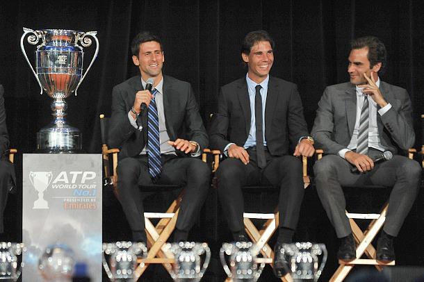 Novak Djokovic-Rafael Nadal-Roger Federer-ATP-event