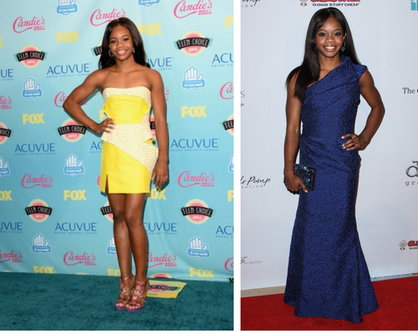 gabrielle-gabby-douglas-teen-choice-awards-2013-Izmaylova-dress-annual-Harold & Carol Pump Foundation Gala