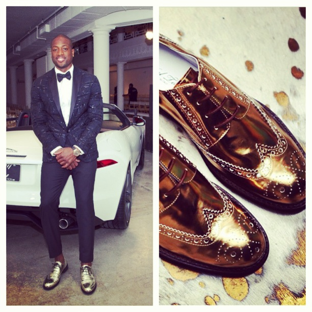 Dwyane-wade-runwade-event-2013-gold-del-toro-shoes-metallic-series-combo