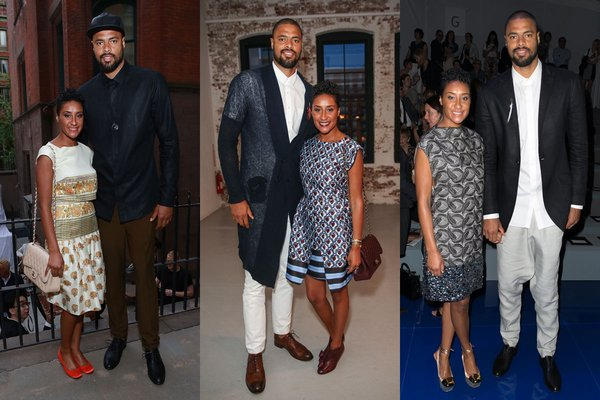 Tyson-Chandler-Kimberly-Chandler-NYFW-suno-ny-vera-wang-2013-new-york-fashion-week