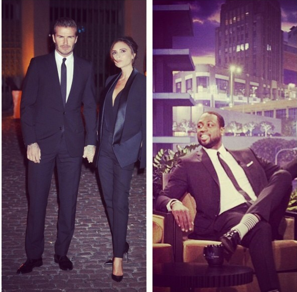 david-beckham-Global-Fund-Gala- London-Dwyane-Wade-Jay-leno-Show-black-white-suit