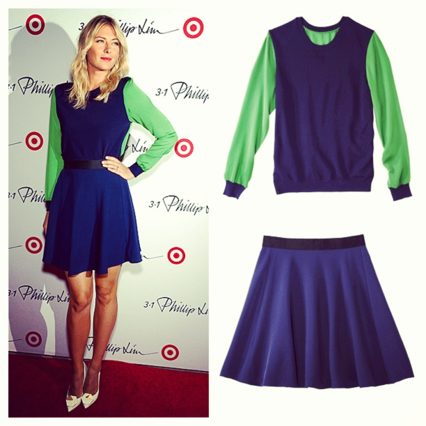 maria-sharapova-phillip-lim-target-launch-phillip-lim-target-pullover-and-silk-skirt-nyfw-2013