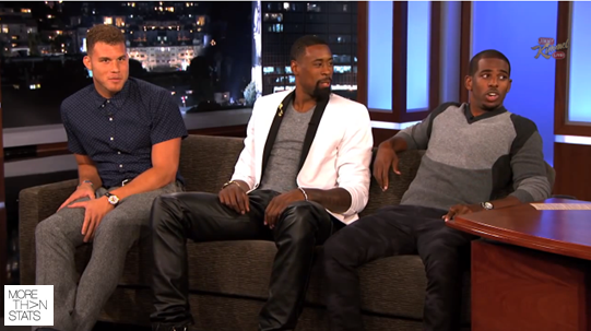 NBA Chris Paul, Blake Griffin, & Deandre Jordan Visit Jimmy Kimmel Live