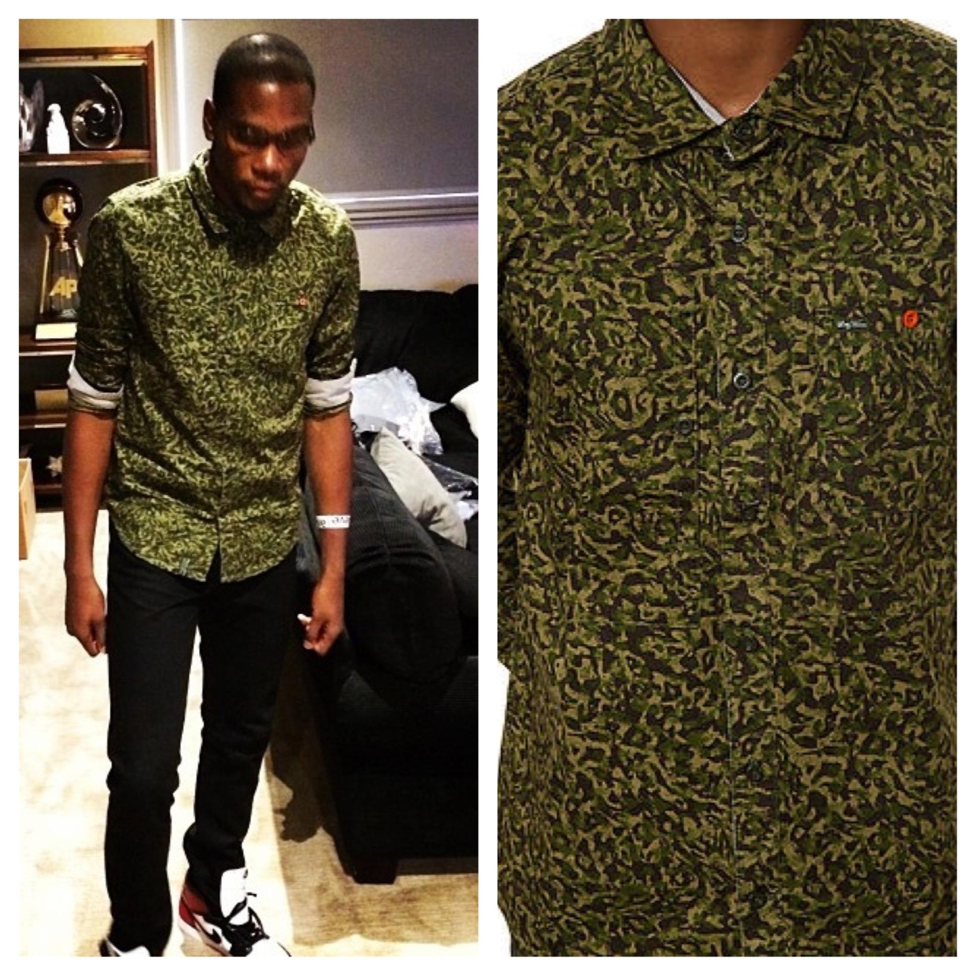 Kevin-Durant-instagram-LRG-Camo-Button-Down-Safari-Shirt-2