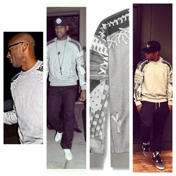 Kobe-bryant-lebron-james-victor-cruz-Givenchy-Baseball-Print-sweatshirt