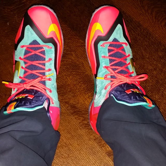Lebron-James-colorful-Lebron-11-sneakers-lebron-11-launch