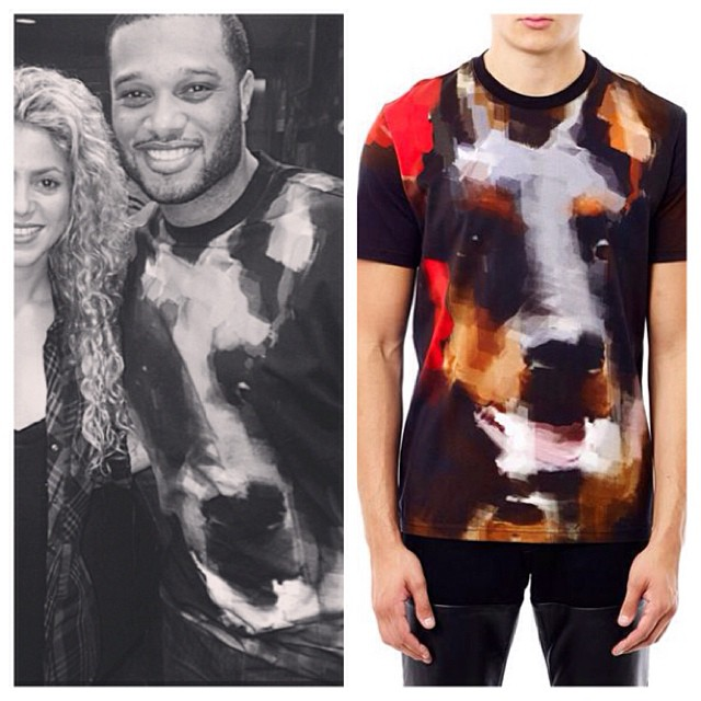 Robinson-cano-instagram-Givenchy-Abstract-Doberman-T-shirt-1