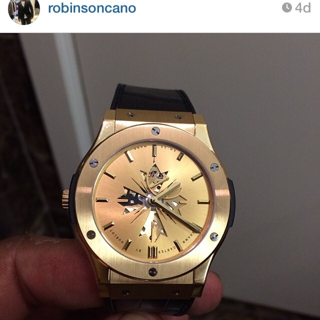 Robinson-cano-instagram-Shawn-Carter-by-hublot-watch