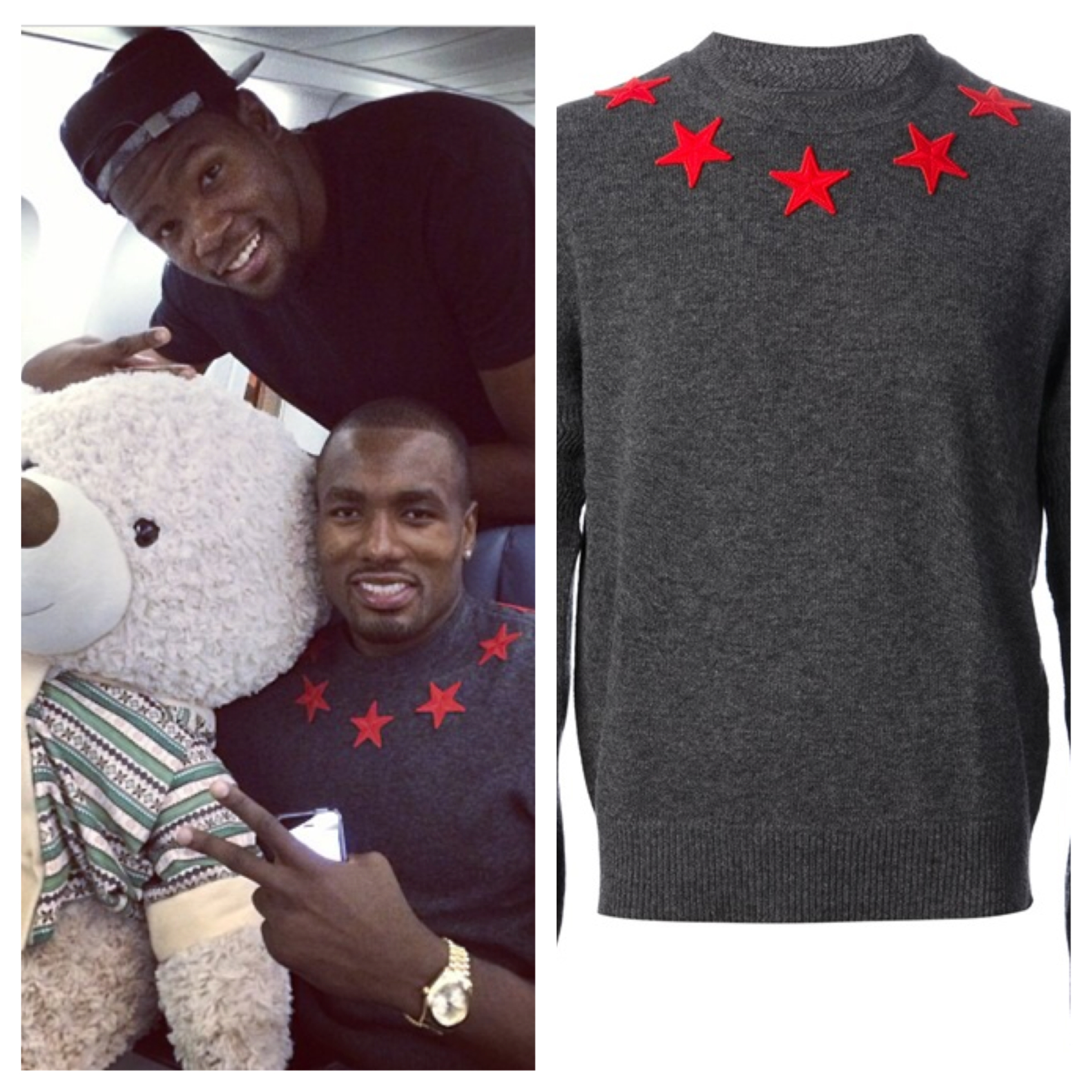 Serge-Ibaka-Instagram-Givenchy-Stars-Wool-sweater-Embroidered-Stars-1