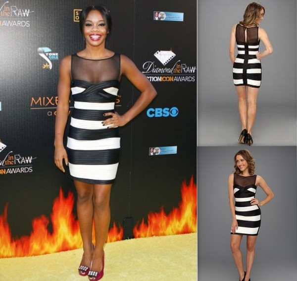 BCBGMAXAZRIA-Petite-Mara-Dress-6th-Annual-Diamond-In-The-RAW-Action-Icon-Awards-Gabby-Douglas-600x567