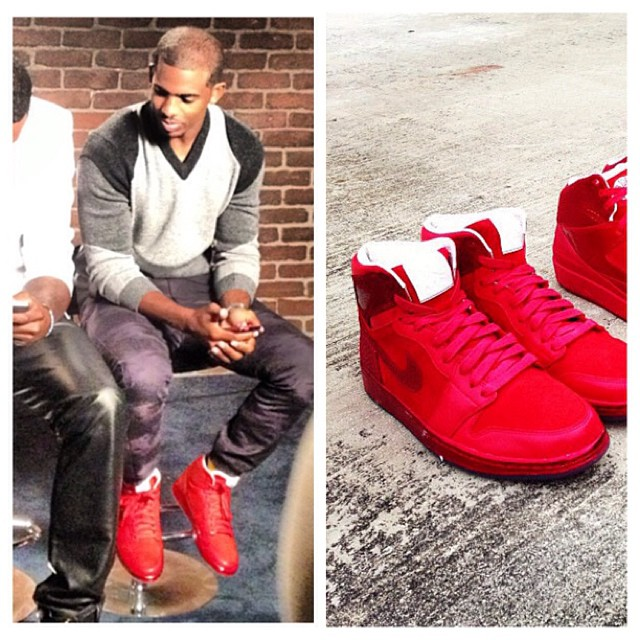 Chris-Paul-instagram-red-air-jordan-1-sneakers-summer-of-legends-jimmy-kimmel