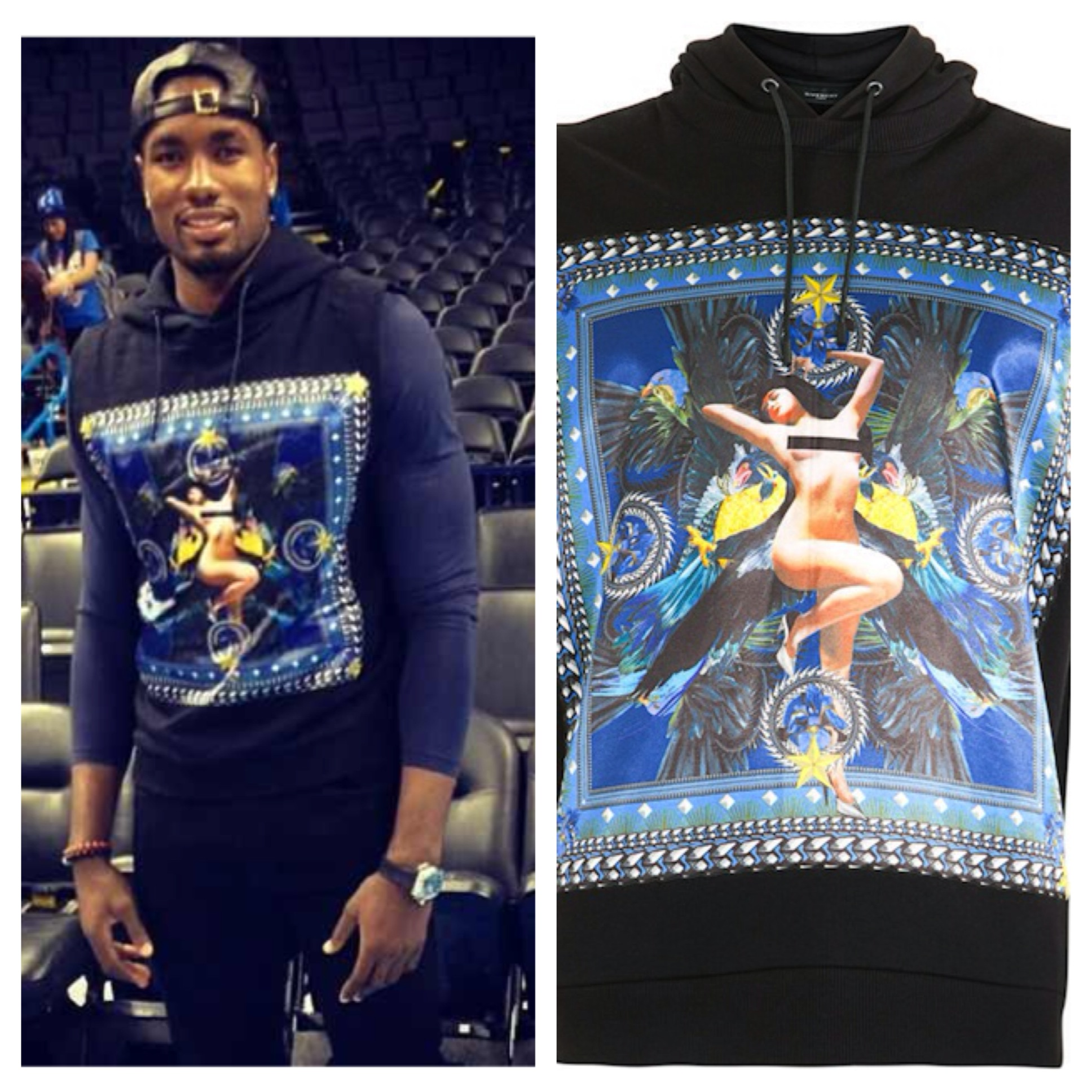 Serge-Ibaka-Instagram-Givenchy-sleeveless-pin-up-girl-hoodie