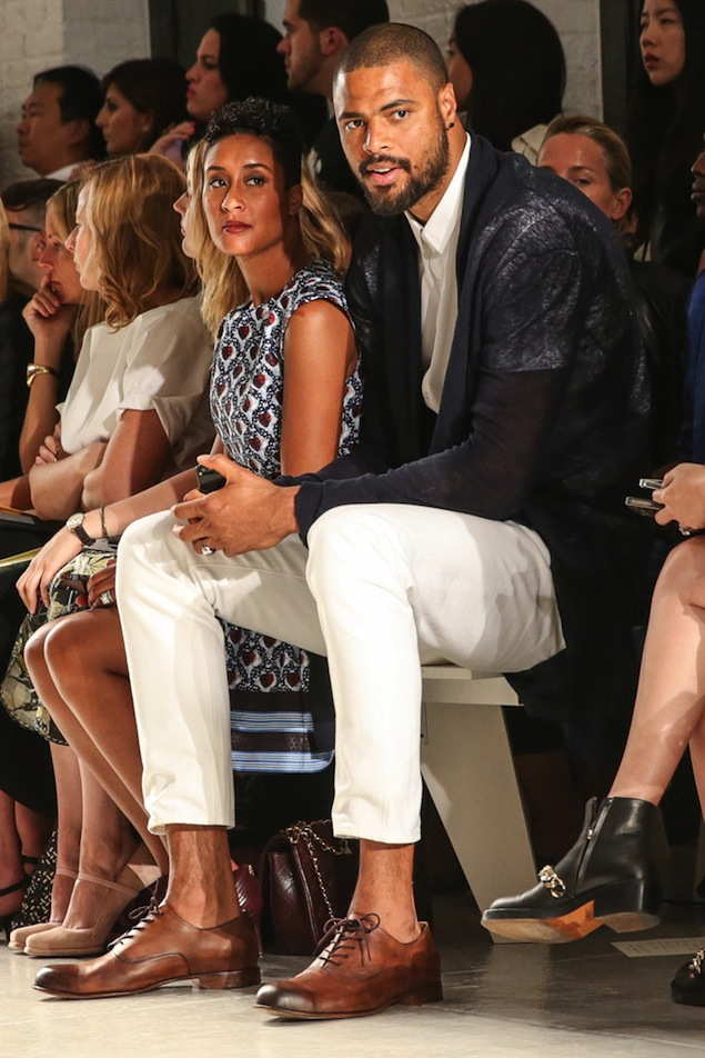 Tyson-Chandler-Kimberly-Chandler-NYFW-joseph-altuzarra-2013-new-york-fashion-week