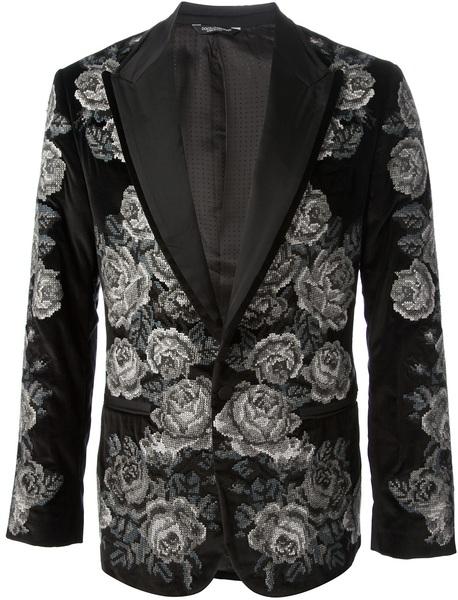 dolce-gabbana-black-floral-tapestry-blazer