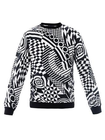 versus-Versace-black-geometric-print-sweatshirt