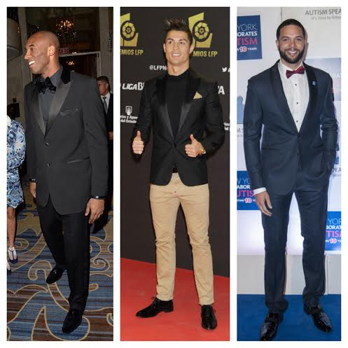 Kobe-Bryant-Tuxedo-Cristiano-Ronaldo-LFP-Awards-Deron-Williams-Autism-Ball-2013