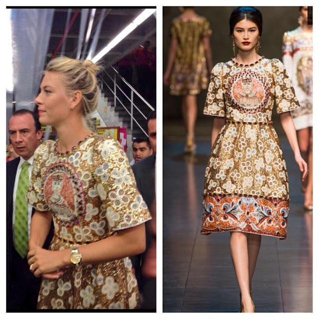 Maria-Sharapova-Colombia-Sugarpova-Launch-Dolce-Gabbana-Fall-2013-Dress