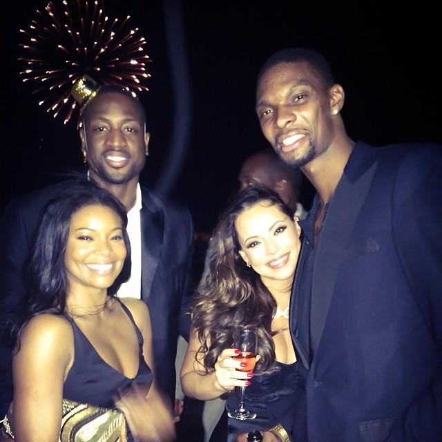 Dwyane-Wade-Gabrielle-union-Chris-Bosh-Adrienne-New-Years-Eve
