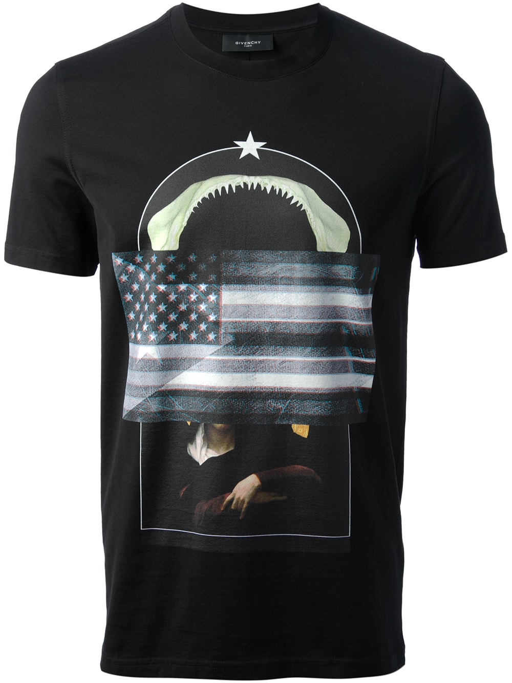 Givenchy-flag-collage-print-t-shirt