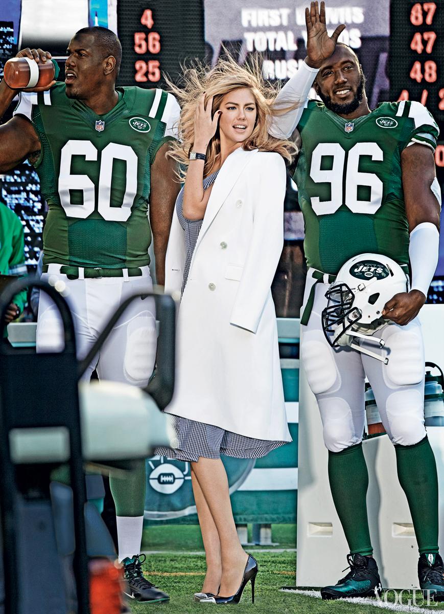 New-York-Jets-D'Brickashaw Ferguson-Muhammad Wilkerson-Kate-Upton-Vogue-Magazine-Superbowl