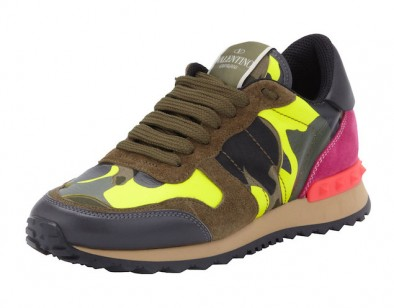 Valentino-Rockstud-Camo-Print-Sneaker-Green-Yellow-Sneakers-Shoes