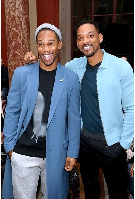 Victor-Cruz-Will-Smith-Paris-fashion-week-lanvin-show-fall-2014