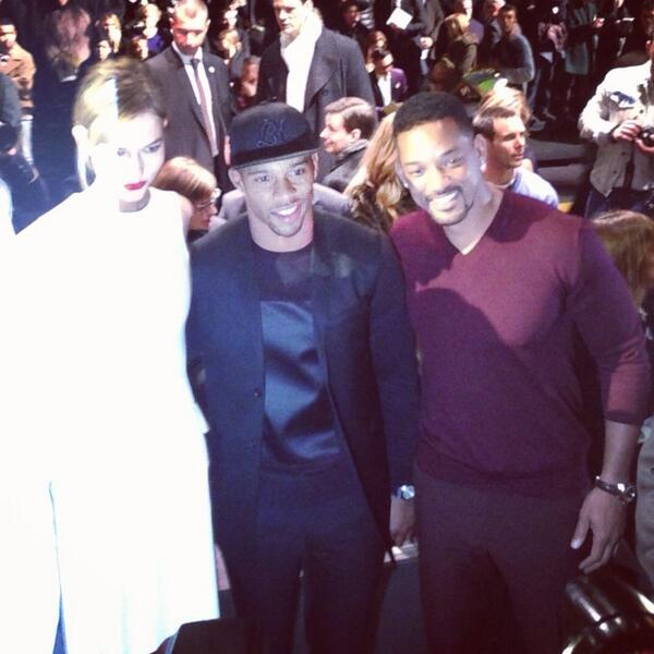 Victor-Cruz-will-smith-Paris-fashion-week-Dior-Homme-fall-2014